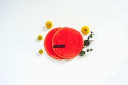Salviette coppette assorbilatte arancioni
